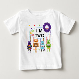 Robot 2nd Birthday tshirts and Gifts