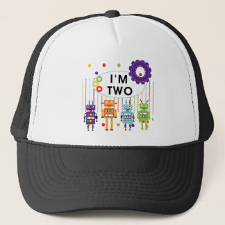 Robot 2nd Birthday tshirts and Gifts Trucker Hat