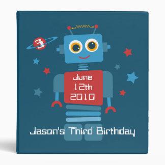 Robot 3rd Birthday Keepsake Photo Binder
