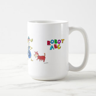 Robot ABC coffee mug by Jerry Hunt