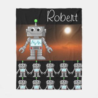 Robot Army Fleece Blanket