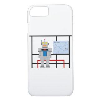 Robot At A Bus Stop iPhone 7 Case