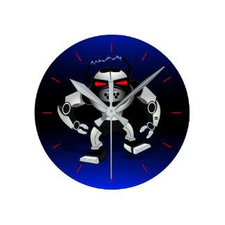 Robot attack warrior round clock