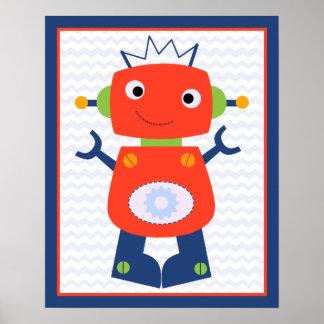Robot Baby/Babies Nursery Art Poster