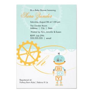 Robot Baby Shower Invitations  |  Boy