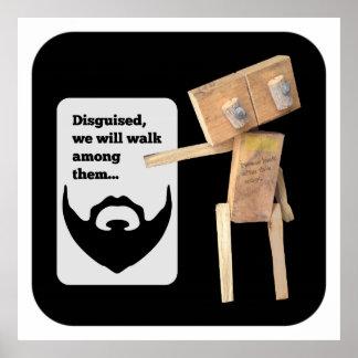 Robot beard disguise plan poster