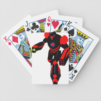 robot bicycle playing cards