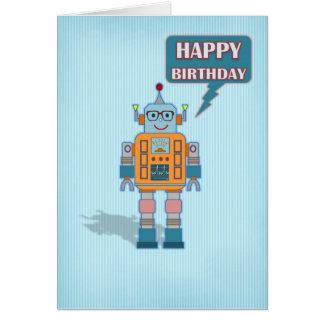 Robot Birthday Card