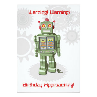 Robot Birthday Invitation