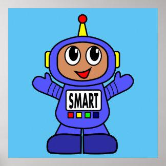 Robot Boy Illustration Poster