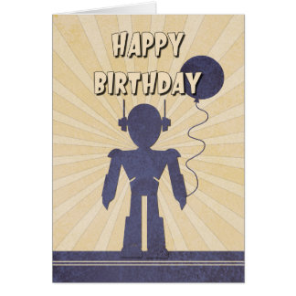 Robot Boy's Birthday Card