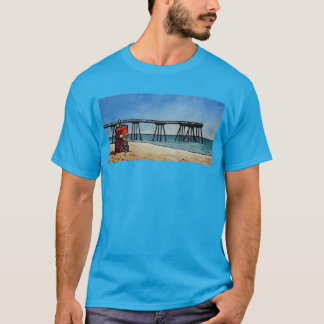 Robot By The Pier T-Shirt