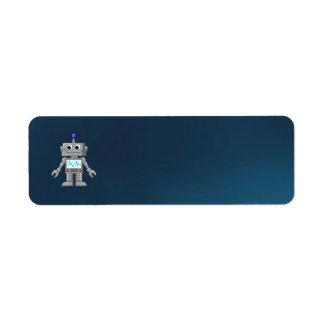 robot cartoon custom return address label