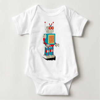 Robot character cartoon baby bodysuit