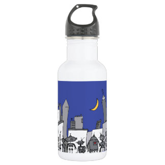 Robot City 532 Ml Water Bottle