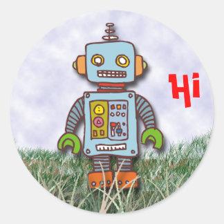 Robot Classic Round Sticker