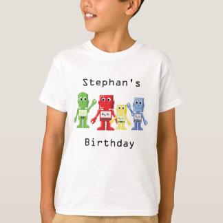 Robot colorful illustration birthday t-shirt