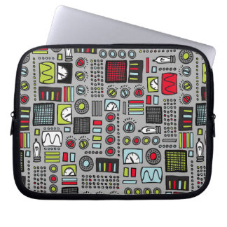 Robot Controls 3000 Laptop Computer Sleeves