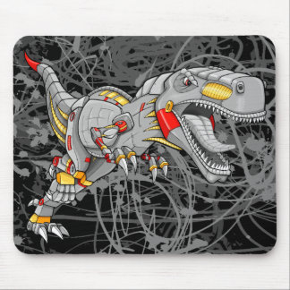 Robot Cyborg Tyrannosaurus Dinosaur   Mouse Pad