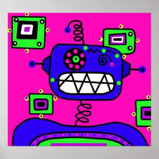 Robot de bruit posters