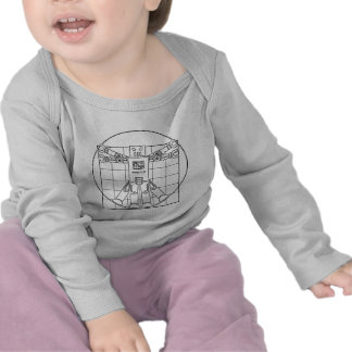 Robot de da Vinci Vitruvian T-shirts