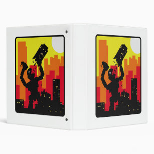 Robot Destroy 3 Ring Binder