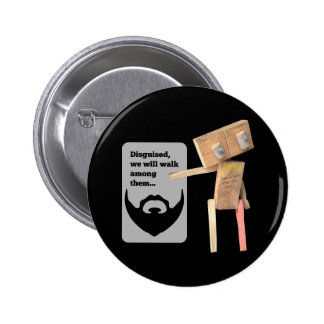 Robot disguise 2 inch round button