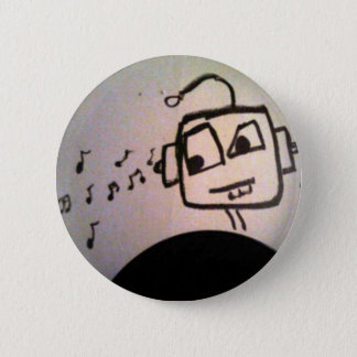 Robot Drawing. 2 Inch Round Button
