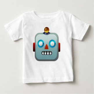 Robot Face Emoji Baby T-Shirt