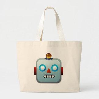 Robot Face Emoji Large Tote Bag