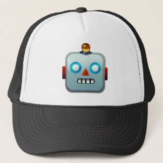 Robot Face Emoji Trucker Hat