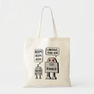 Robot faisant bip-bip sac en toile