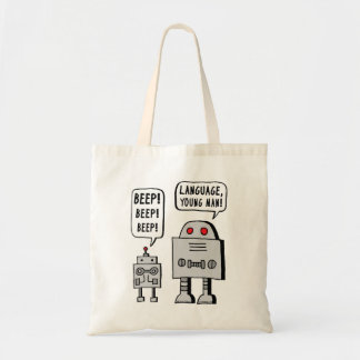 Robot faisant bip-bip sac en toile budget