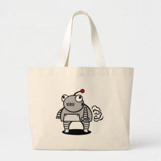 Robot Fart Tote Bags