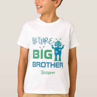 Robot Future Big Brother Boys Personalized Kids T-Shirt
