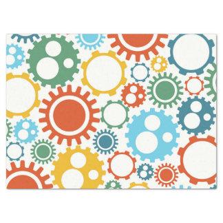 Robot Gears Pattern Tissue Paper
