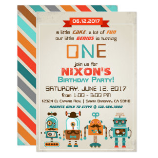 Robot Genius Future Builder Birthday Card
