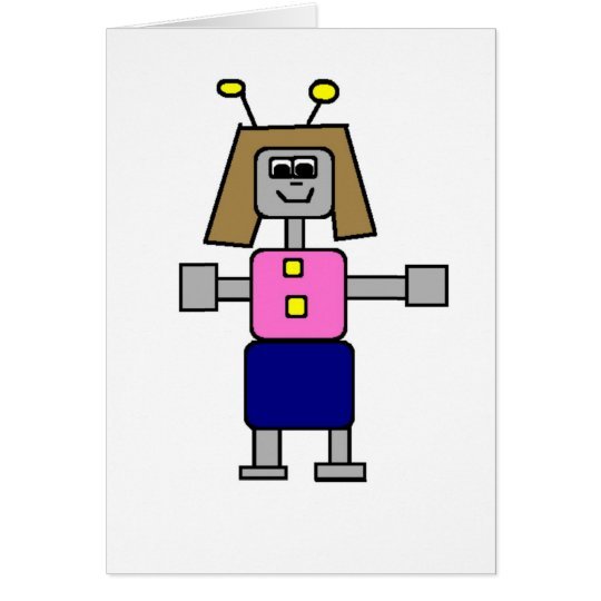 Robot Girlfriend Card