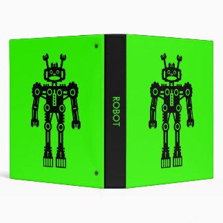 Robot - Green 3 Ring Binder