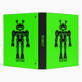 Robot - Green Vinyl Binders