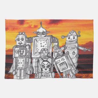 Robot Holiday 3 Kitchen Towel