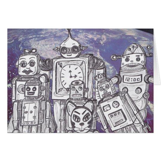 Robot Holiday 7 Card