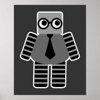 Robot intelligent de geek poster