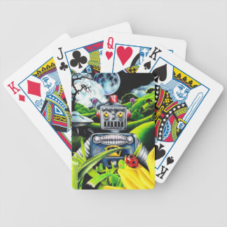 Robot Invasion - Science Fiction Artwork Poker Deck