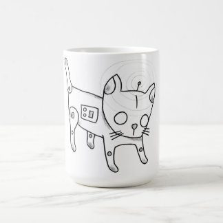 robot kitten coffee mug