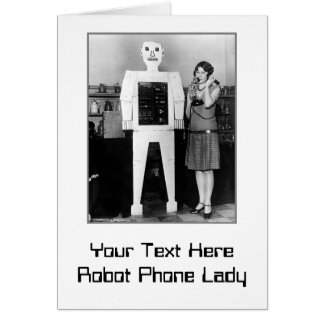 Robot, Lady, Phone Card