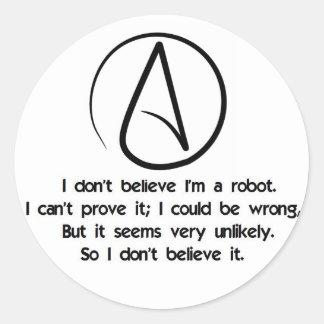 Robot Logic Round Sticker