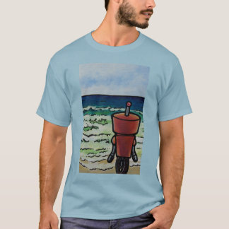 Robot Looking Out To Sea T-Shirt