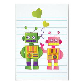 """Robot Love Card 3.5"""" X 5"""" Invitation Card"""