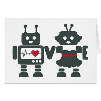 Robot Love - Customize Message Greeting Card